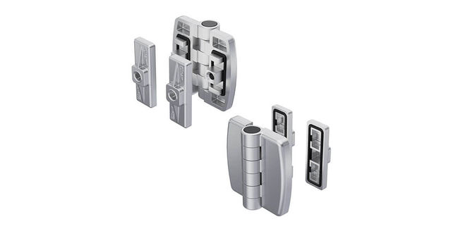 Hinge Pr01 180° with Fastening Bracket Stainless Steel - A Robust Connection